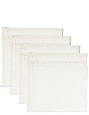 Lace Border Napkin 4 Pack