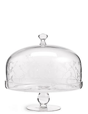 Botanical Etched Cake Stand