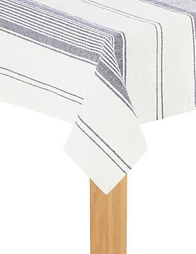 Rustic Stripe Tablecloth, , catlanding