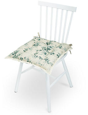 Dovecote Floral Seat Pad