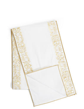 Gold Embroidered Runner