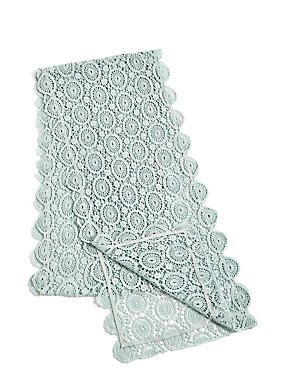 Pure Cotton Floral Lace Runner