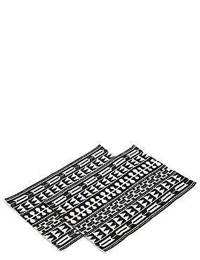 2 Pack Mono Crewel Work Placemats