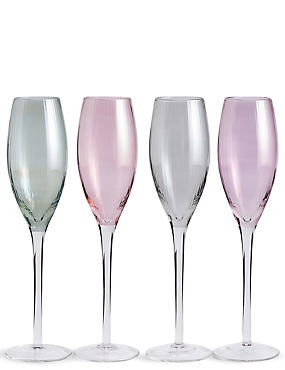 Ophelia 4 Pack Champagne Flute