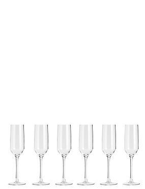6 Lichfield Champagne Flutes, , catlanding