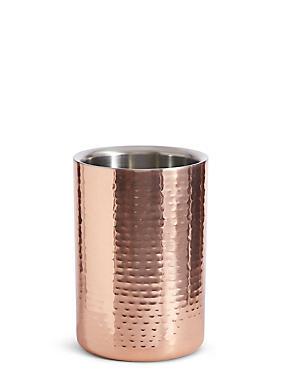 Hammered Metal Wine Cooler, COPPER, catlanding