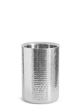 Hammered Metal Wine Cooler, SILVER, catlanding