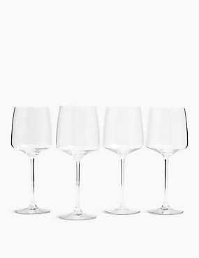 Set of 4 Manhattan Red Wine Glasses, , catlanding