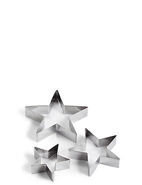 Set of 3 Star Cutters, , catlanding