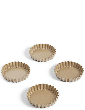 4 Non-Stick Mini Tartlet Tins
