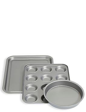 Set of 3 Mixed Baking Tins