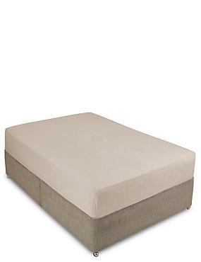 Pure Linen Fitted Sheet , NATURAL, catlanding