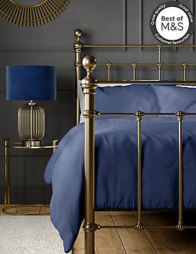 200 Thread Count Comfortably Cool Duvet Cover, NAVY, catlanding