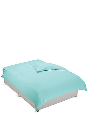 Non-Iron Pure Egyptian Cotton Duvet Cover, SEAFOAM, catlanding