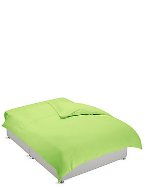 Non-Iron Pure Egyptian Cotton Duvet Cover, LIME, catlanding