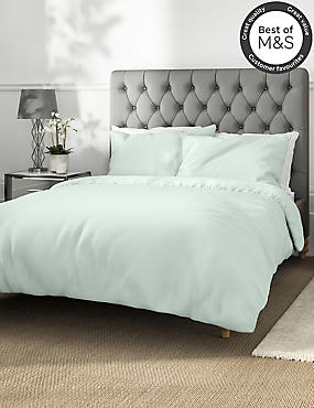 Non-Iron Pure Egyptian Cotton Duvet Cover, LIGHT AQUA, catlanding