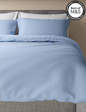 Non-Iron Pure Egyptian Cotton Duvet Cover, LIGHT WEDGEWOOD, catlanding