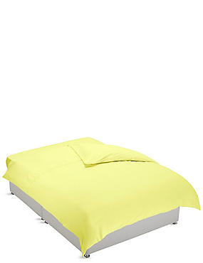 Non-Iron Pure Egyptian Cotton Duvet Cover, YELLOW, catlanding