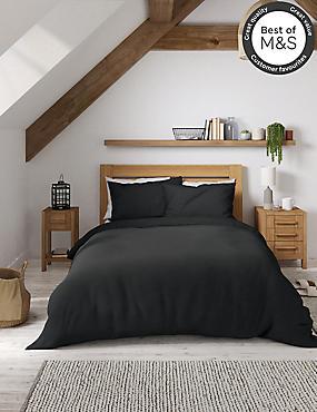 Non-Iron Pure Egyptian Cotton Duvet Cover, BLACK, catlanding
