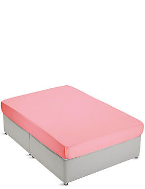 Non-Iron Pure Egyptian Cotton Fitted Sheet, CORAL, catlanding