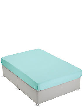 Non-Iron Pure Egyptian Cotton Fitted Sheet, SEAFOAM, catlanding