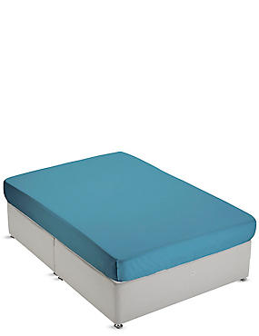 Non-Iron Pure Egyptian Cotton Fitted Sheet, TEAL GREEN, catlanding