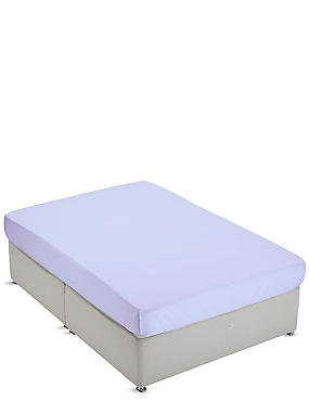 Non-Iron Pure Egyptian Cotton Fitted Sheet, LAVENDER, catlanding
