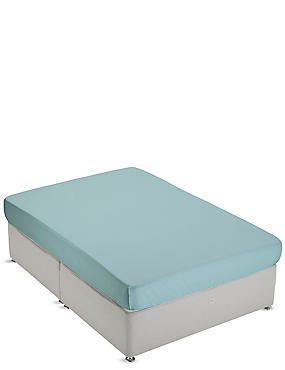 Non-Iron Pure Egyptian Cotton Fitted Sheet, LIGHT VERDIGRIS, catlanding