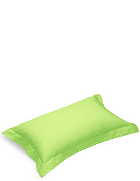 Pure Egyptian Cotton 230 Thread Count Oxford Pillowcase with StayNEW™, LIME, catlanding