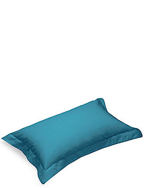 Pure Egyptian Cotton 230 Thread Count Oxford Pillowcase with StayNEW™, TEAL GREEN, catlanding