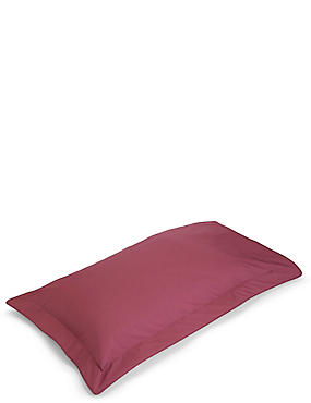 Pure Egyptian Cotton 230 Thread Count Oxford Pillowcase with StayNEW™, RASPBERRY MIX, catlanding
