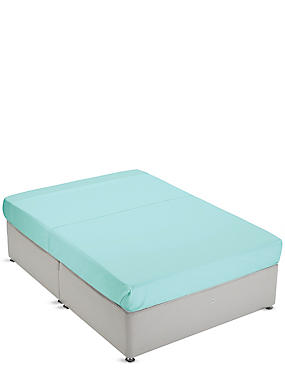 Non-Iron Pure Egyptian Cotton Flat Sheet, SEAFOAM, catlanding