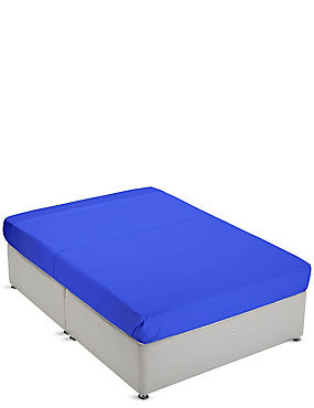 Non-Iron Pure Egyptian Cotton Flat Sheet, BRIGHT BLUE, catlanding