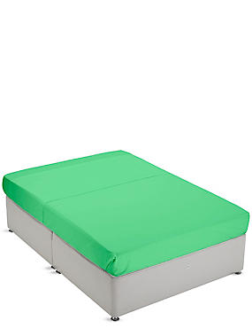 Non-Iron Pure Egyptian Cotton Flat Sheet, GREEN, catlanding