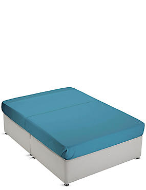 Non-Iron Pure Egyptian Cotton Flat Sheet, TEAL GREEN, catlanding