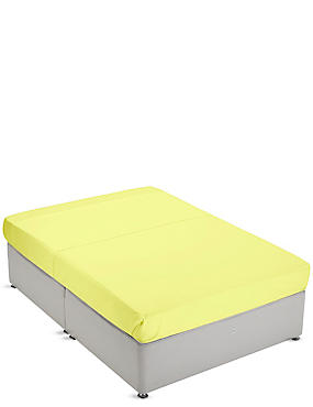 Non-Iron Pure Egyptian Cotton Flat Sheet, YELLOW, catlanding