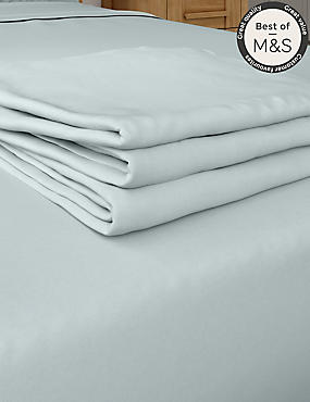Non-Iron Pure Egyptian Cotton Flat Sheet, LIGHT DUCK EGG, catlanding