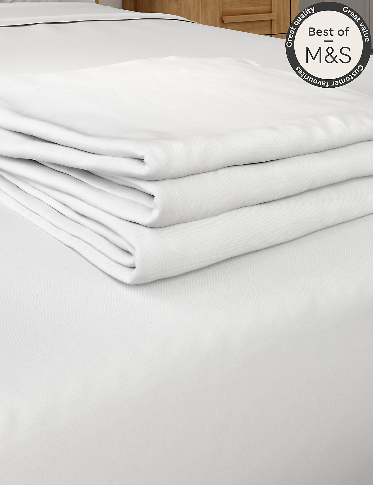 Non Iron Pure Egyptian Cotton Flat Sheet