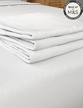 Non-Iron Pure Egyptian Cotton Flat Sheet, WHITE, catlanding