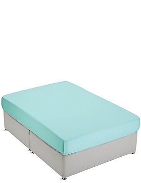 Non-Iron Pure Egyptian Cotton Deep Fitted Sheet, SEAFOAM, catlanding