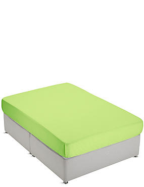 Non-Iron Pure Egyptian Cotton Deep Fitted Sheet, LIME, catlanding