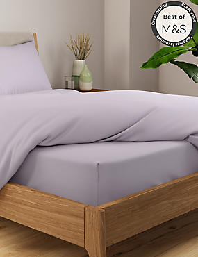 Non-Iron Pure Egyptian Cotton Deep Fitted Sheet, LIGHT LILAC, catlanding