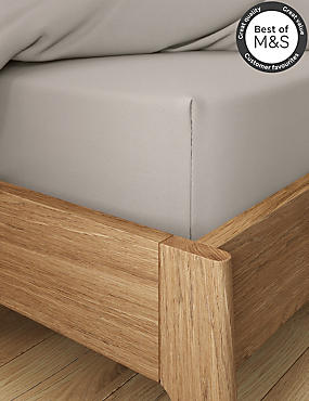 Non-Iron Pure Egyptian Cotton Deep Fitted Sheet, MINK, catlanding