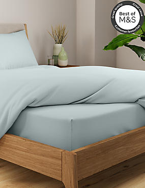 Non-Iron Pure Egyptian Cotton Deeper Fitted Sheet