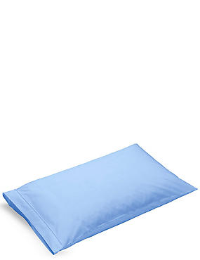 Pure Egyptian Cotton 230 Thread Count Standard Pillowcase with StayNEW™, CORNFLOWER, catlanding