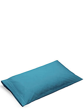 Pure Egyptian Cotton 230 Thread Count Standard Pillowcase with StayNEW™, TEAL GREEN, catlanding