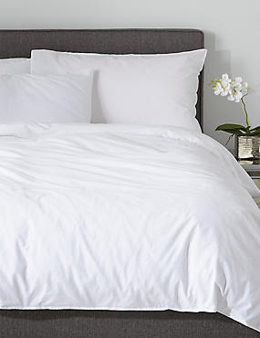 Washed Cotton Duvet Cover, WHITE, catlanding