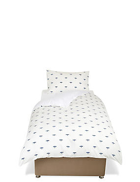 Printed Plane Bedding Set