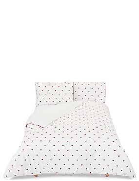 Brushed Cotton Robin Bedding Set, DARK RED MIX, catlanding