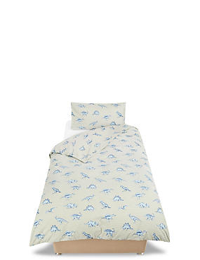 Dinosaur Stripe Bedding Set, FOREST GREEN, catlanding